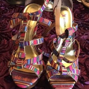 BEAUTY SIX INCHES MULTI COLOR HEELS GREAT 4 SPRING
